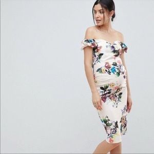 Little Mistress Floral Maternity Dress Sz 12